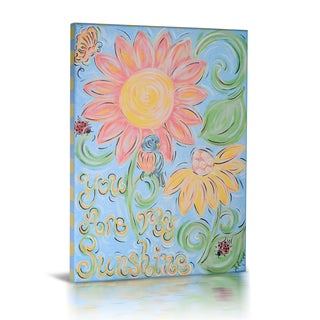 'You Are My Sunshine' Canvas Gallery Wrapped Art