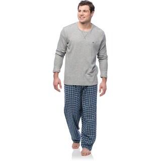 Tommy Hilfiger Men's Long Shirt with Danish Blue Plaid Pants