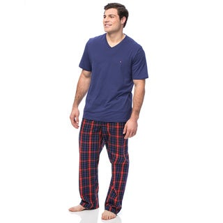 Tommy Hilfiger Men's Navy and Red Short Sleeve Pajama Box Set