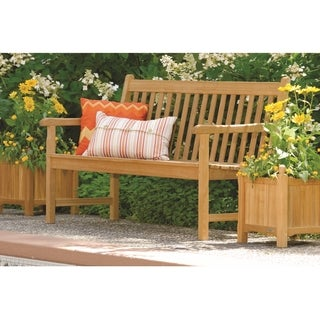 Oxford Garden Classic Bench and Two Planter Set