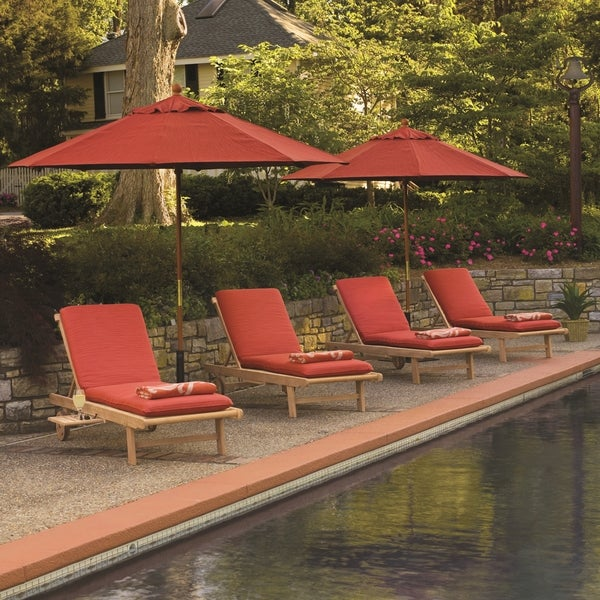 Oxford Garden Chaise Lounge 8-piece Set with Chaise Cushions