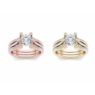 De Couer 14k Gold 1 1/2ct TDW Diamond Solitaire Engagement Ring (H-I, I2)