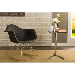 Dario Black Plastic Mid-Century Modern Rocking Chair