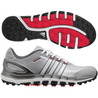 Adidas Men's Pure 360 Gripmore Sport Q47014 Grey/ Silver/ White Golf Shoe