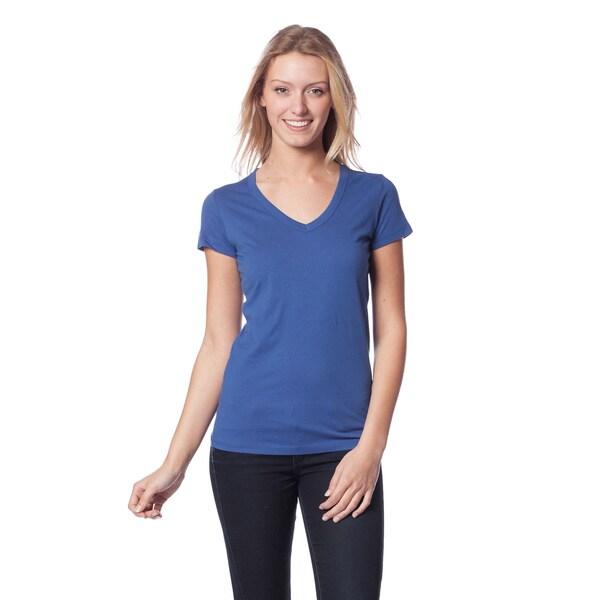 AtoZ Women's Short Sleeve V-Neck Top