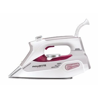 Rowenta DW9070 Steamium 1800-Watt Steam Iron with 400-hole Platinum Soleplate Pink and White Made in Germany