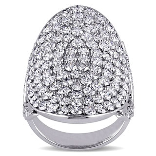 Miadora Signature Collection 14k White Gold 3 4/5ct TDW Diamond Cluster Ring (G-H, SI1-SI2)
