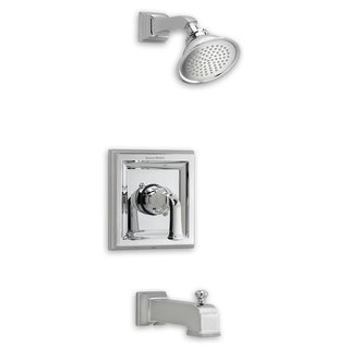 American Standard Town Square Tub and T555.522.295 Satin Nickel Shower Faucet