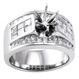 Beverlly Hills Charm 18k White Gold 1 3/4ct TDW Diamond Semi-mount Engagement Ring (H-I, SI2-I1)