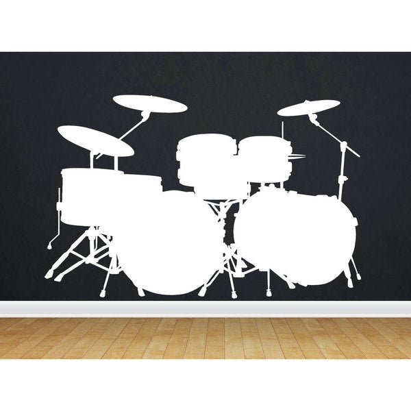 Drum Set Sticker Wall Art
