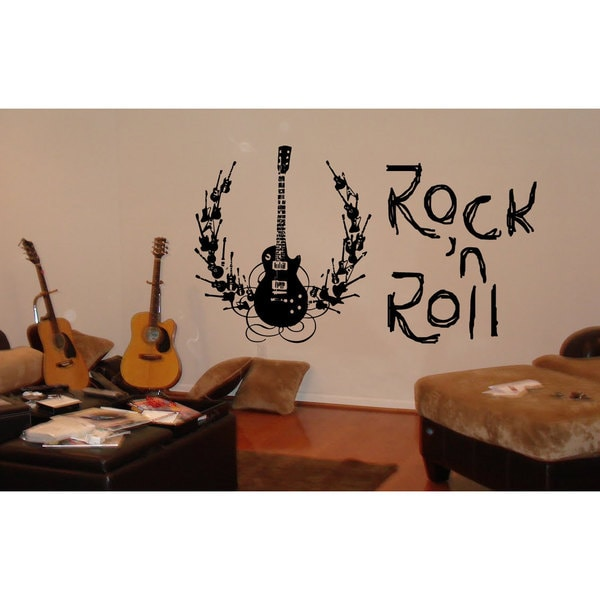 Rock'n'Roll Guitar Vinyl Sticker Wall Art