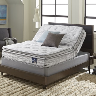 Serta Extravagant Pillowtop California King-size Mattress Set with Elite Pivot Foundation