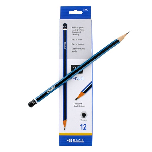 Bazic #2B Premium Wood Pencils