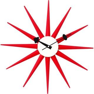 Telechron Red Sunburst Clock