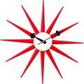 Hans Andersen Home Red Sunburst Clock