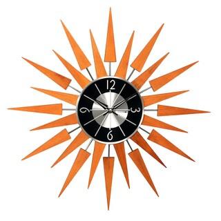 Hans Andersen Home Wooden Sunburst Clock