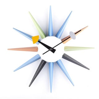 Hans Andersen Home Metal Sunburst Wall Clock