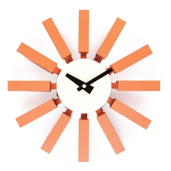 Hans Andersen Home Orange Block Clock