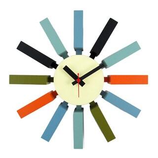 Hans Andersen Home Multi-color Block Clock