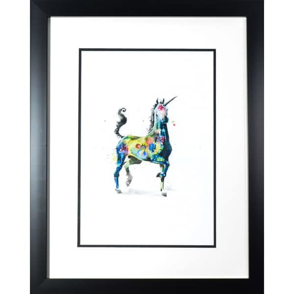 Zombie 'Unicorn' Framed Art Print