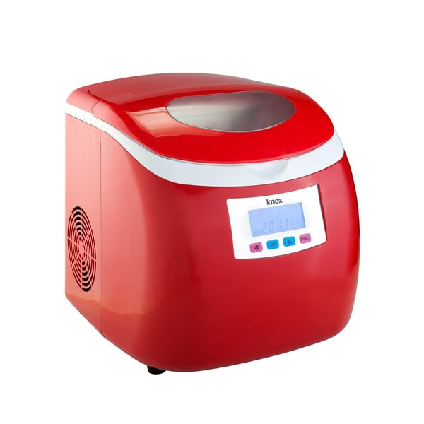 Knox Compact Ice maker (27-pounds in 24-hours) - Red
