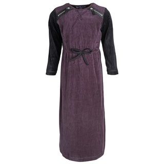 Mimo Big Girls' Cotton Blend Long Velour Contrast Back Nightgown