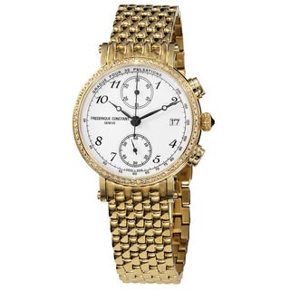 Frederique Constant Women's FC-291A2RD5B 'Classics' White Dial Yellow Goldtone Stainless Steel Watch