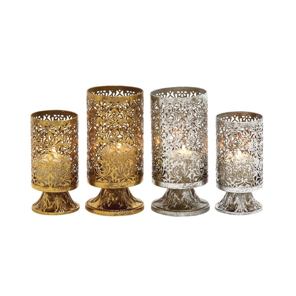 Classy Assorted Metal Candle Holder (Set of 2) 15447725