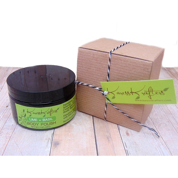 Karess Krafters Lime-Basil Sugar Natural Exfoliant Body Polish