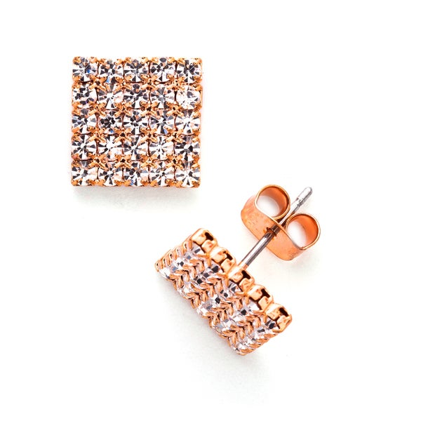 Facet Nation Crystal 5 x 5 Stud Earring