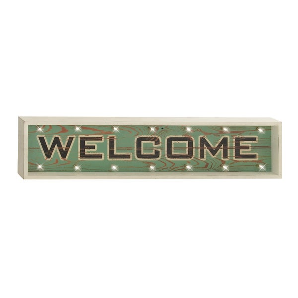 Wood Led Welcome Sign