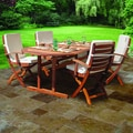 review detail Somette Brea Eucalyptus Wood Brown Oval Patio Table