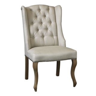 Somette Warrenton Natural Hand Tufted Wingback Chair (Set of 2)