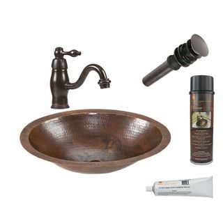 Premier Copper Products LO17FDB Faucet Package with Single Handle