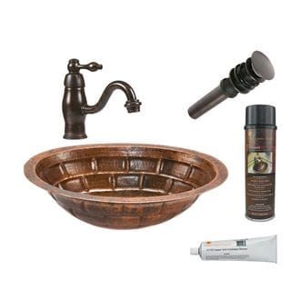 Premier Copper Products LO19FBKDB Faucet Package with Single Handle