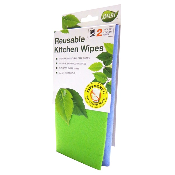 SMART Reusable 2-pack Kitchen Wipes (Set of 4)