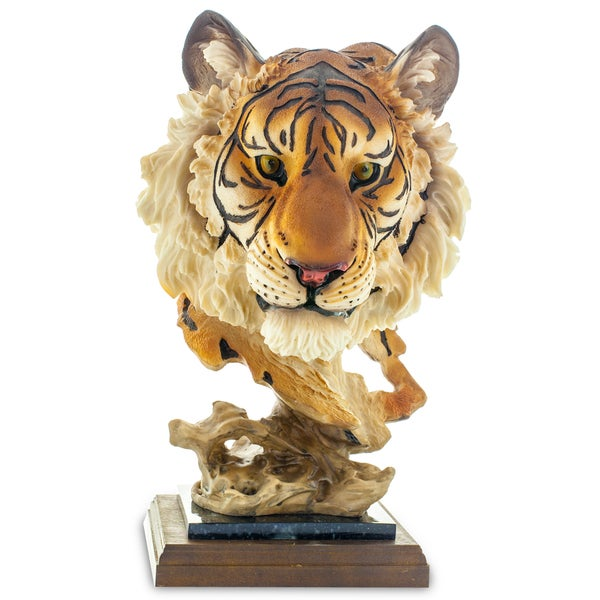 Tiger Head 14-inch Figurine