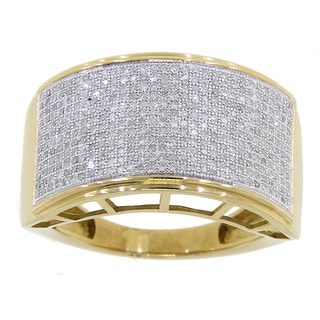 10k Yellow Gold Men's 7/8ct TDW Diamond Ring (G-H , I2-I3)