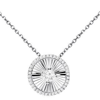 "14KT WG 0.25CT DIAMOND SHIMMER PENDANT WITH 14KT WG 16"" CHAIN"