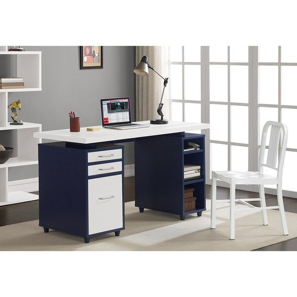 Navy/ Cream Floating Top Desk