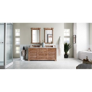 James Martin 72-inch Savannah Driftwood Double Bath Vanity Cabinet