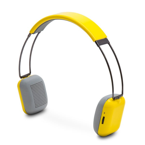 Rendezvous Neon Yellow Bluetooth 3.0 Wireless On-ear Headphones
