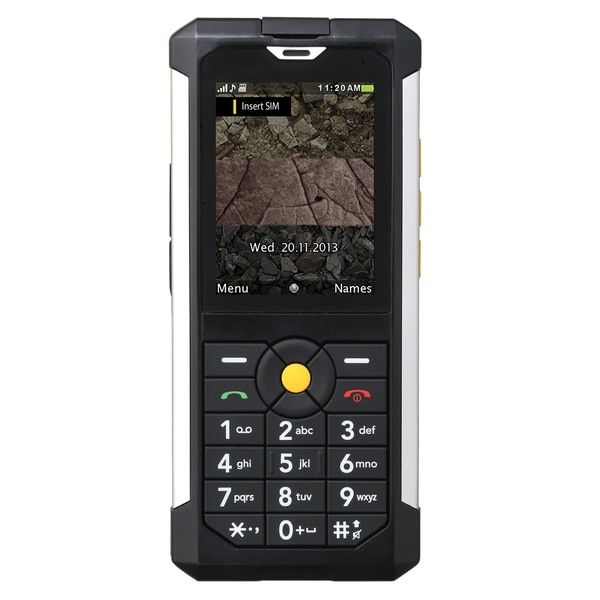 CAT B100 Unlocked GSM 3G Military Grade + IP67 Certified Cell Phone - Black