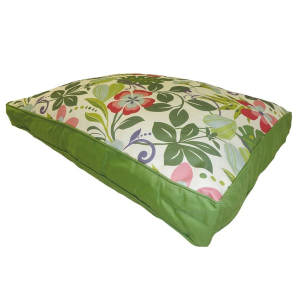 O'Fun Floral Pink/ Green Large Pet Bed