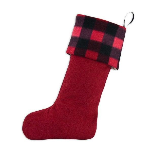 Buffalo Plaid Red Christmas Stocking
