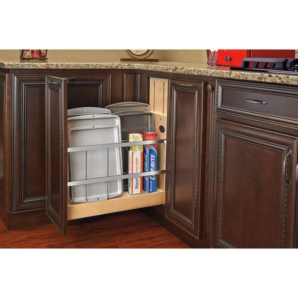 Rev-A-Shelf 447-BCSC-5C 5-inch Tray Divider/ Foil and Wrap Organizer Soft-Close