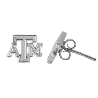 Texas A and M Sterling Silver Post Earrings