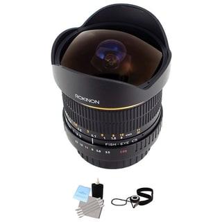Rokinon 8mm Ultra Wide Angle f/3.5 Fisheye Lens for Pentax Bundle