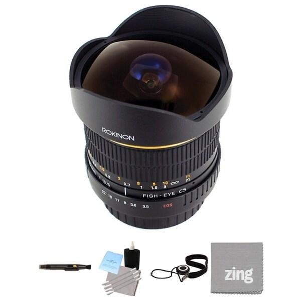 Rokinon 8mm Ultra Wide Angle f/3.5 Fisheye Lens for Olympus 4/3 Bundle