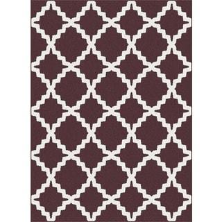Geometric 1038 Metro Chocolate Rug (7'10 x 10'3)